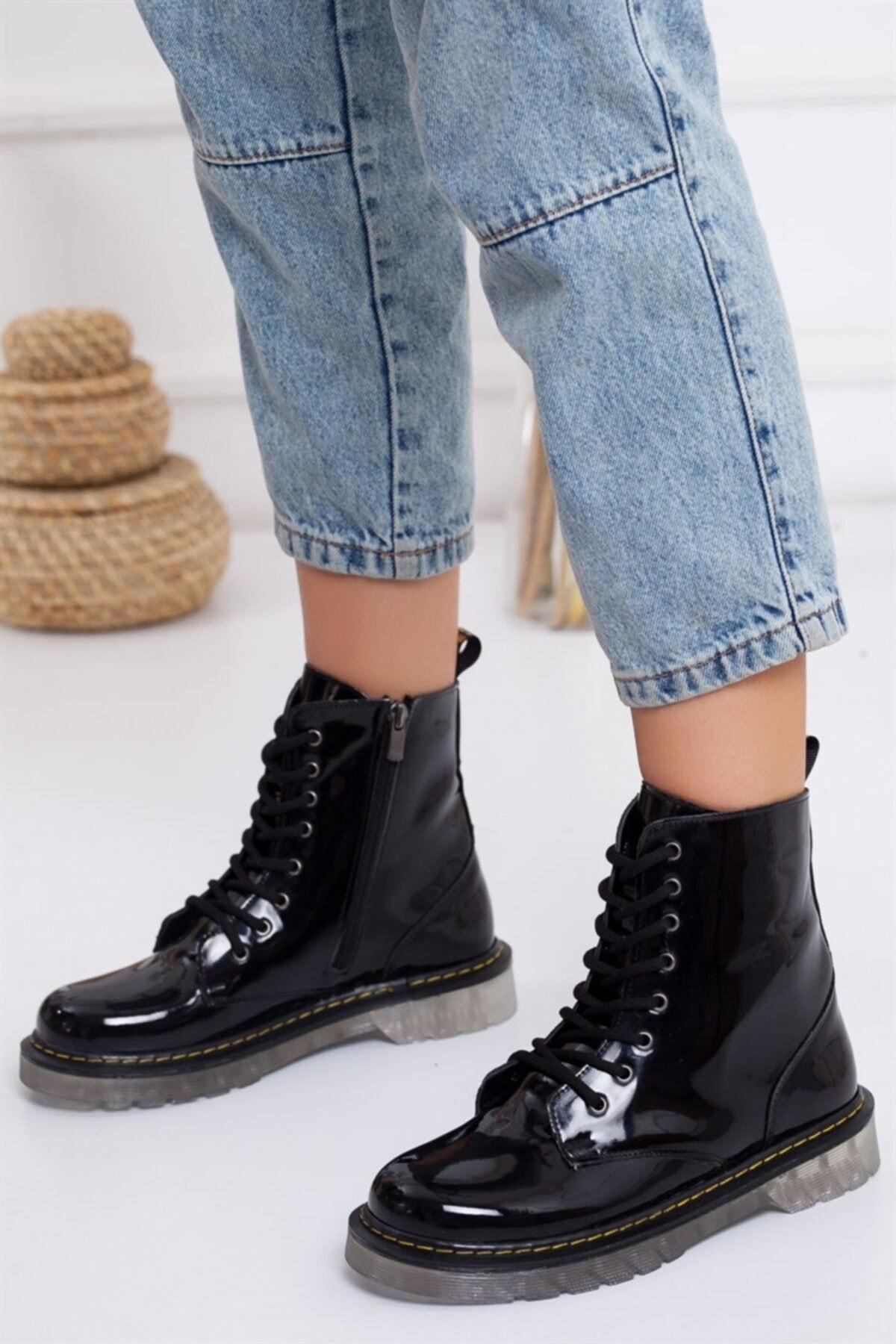 Lovita Shoes Kadın Siyah Postal Bot