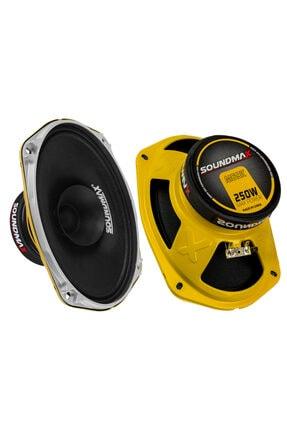 Soundmax Sx-m69k Midrange Oval 6x9 Max Power 300w Rms Power 150w Oto Hoparlör Ikili Takım 0