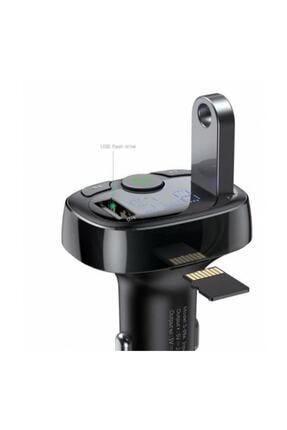 Baseus Orijinal Bluetooth Aktarım Mp3 Araç Kiti 2 Usb Çıkışlı Araç Şarjı, Araç Müzik Kiti Ve Şarjı 3