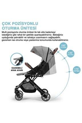 Elele Siyah Jet Kabin Tipi Bebek Arabası 2