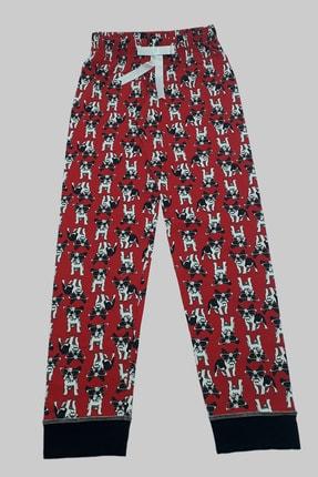 MELEK İÇ GİYİM Kadın Siyah Şal Yaka Köpek Desenli Pijama Takımı 2