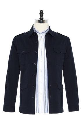 Germirli Erkek Indigo Lacivert Tailor Fit Ceket Gömlek 0