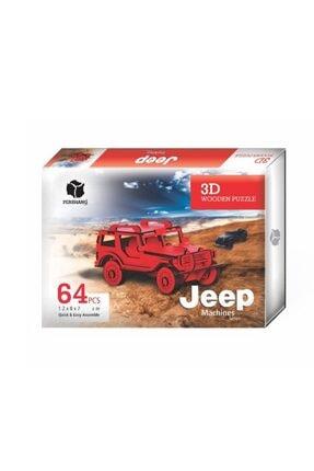 Pershang Ahşap Jeep 3d Puzzle 64 Parça 2019018 0