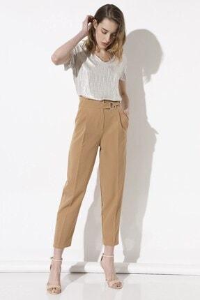 Arma Life Kadın Kahverengi Tokalı Kumaş Pantolon 2