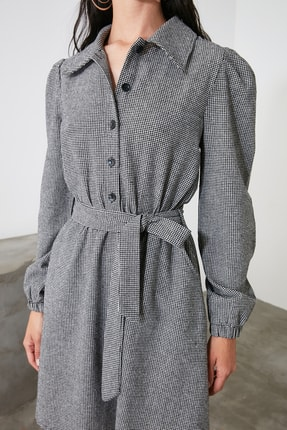 TRENDYOLMİLLA Çok Renkli Kuşaklı Elbise TWOAW21EL2067 3