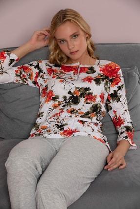 Strawberry Kadın Desenli Pamuklu Viskon Pijama Takim 0