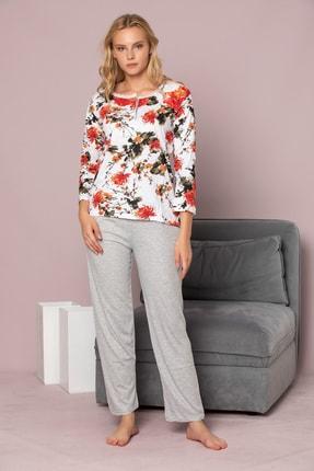Strawberry Kadın Desenli Pamuklu Viskon Pijama Takim 1