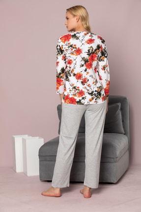 Strawberry Kadın Desenli Pamuklu Viskon Pijama Takim 3