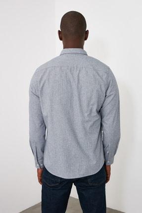 TRENDYOL MAN Gri Erkek Slim Fit Gömlek TMNAW21GO0966 4