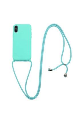 TeknoDuvar Apple Iphone Xs Max Ropi Omuz Boyun Ipli Askılı Renkli Silikon Kılıf Kapak 4