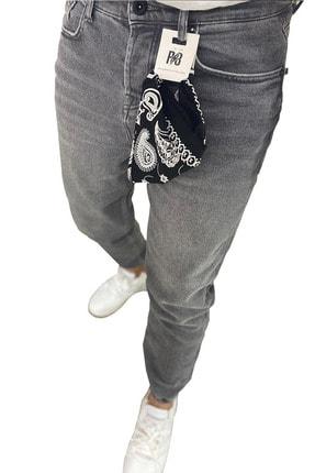 RAYZ Erkek Gri Boyfriend Jogger Paça Pantolon 1