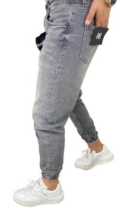 RAYZ Erkek Gri Boyfriend Jogger Paça Pantolon 2