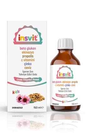 insvit Ceviz Ekstreli C Vitamini Propolis Vitamin Şurubu Orman Meyveleri Aromalı 150 ml 0