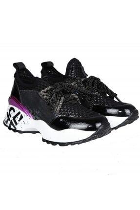FOTİN Guja Kadın Siyah Bağcıklı Sneaker Ayakkabı 0