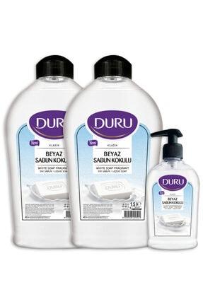Duru Beyaz Sabun Kokulu Sıvı Sabun 1,5+1,5+300ml 0
