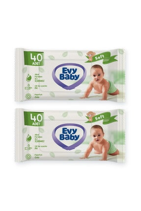 Evy Baby Bebek Bezi 3 Numara Midi 180 Adet Ve 2 Paket Islak Havlu 1