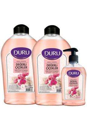 Duru Değerli Çiçekler Sıvı Sabun 1,5+1,5+300ml 0