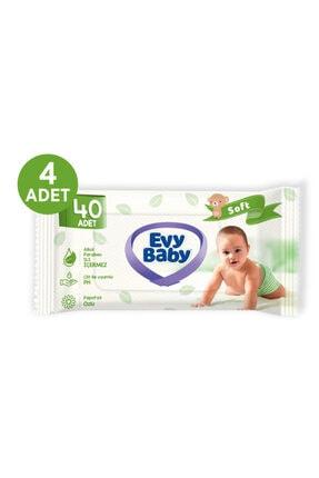 Evy Baby Bebek Bezi 3 Beden Midi 136 Adet Ve 4 Paket Islak Havlu 1