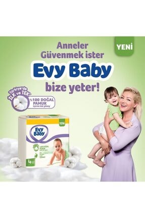 Evy Baby Bebek Bezi 4+ Beden Maxiplus 104 Adet Ve 4 Paket Islak Hvl 4
