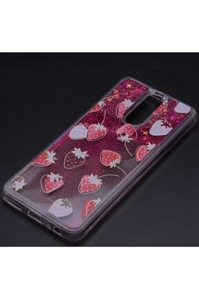 Huawei Teleplus Mate 10 Lite Sıvılı Star Silikon Kılıf Kırmızı 0