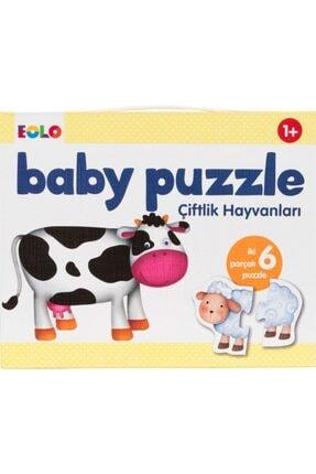 Eolo Baby Puzzle Çiftlik Hayvanlar 0