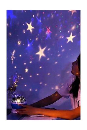 Patladı Gitti Renkli Ve Dönen Star Master Projeksiyon Gece Lambası Siyah 2