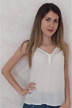 Kadın Sıfır Yaka Basic Beyaz Body 724568