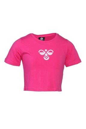 HUMMEL Kız Çocuk Pembe Monteresso Crop Tshirt 0