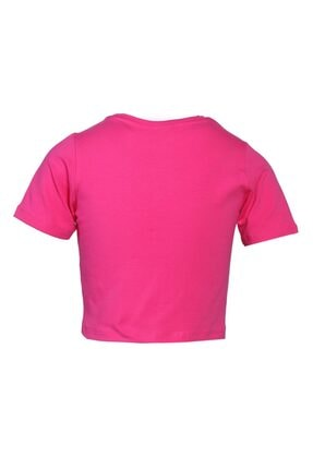 HUMMEL Kız Çocuk Pembe Monteresso Crop Tshirt 1