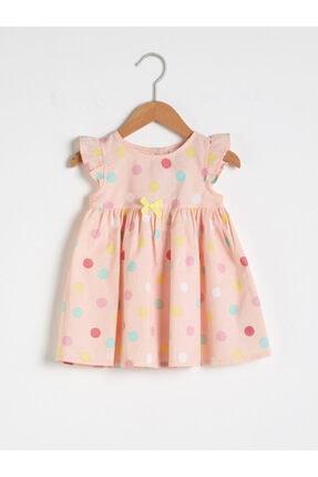LC Waikiki Kız Bebek Pembe Baskılı Elbise 0