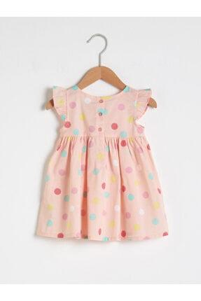 LC Waikiki Kız Bebek Pembe Baskılı Elbise 1