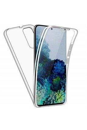 Samsung Teleplus Galaxy A31 Kılıf 360 Ön Arka Silikon Şeffaf 0