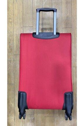 GROUND Orta Boy Kırmızı Hafif 4 Tekerlekli Kumaş Valiz 2