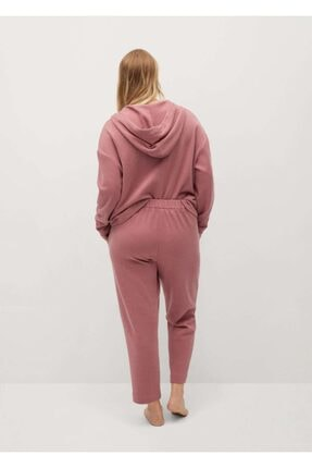 Mango Kadın Pembe Koton Pantolon 2
