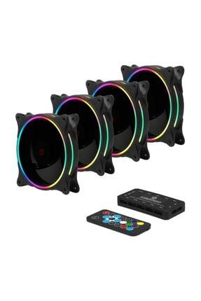 Frisby Fcl-f1264b 4in1 Kumandalı Dual Rgb Fan Set 4lü Set Kit 4x120mm Sessiz Kasa Fanı 2
