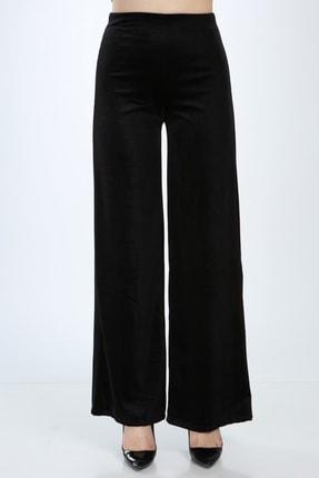 Ananas Kadın Siyah Kadife Pantolon 3