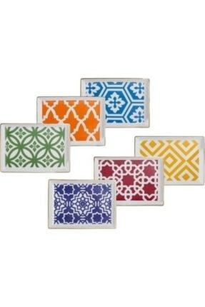 Porland Morocco 6 Parça Kahvaltı Tabağı 18x13cm 0