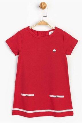 Panolino Kız Çocuk Kırmızı Kısa Kol Yazlık Elbise 0