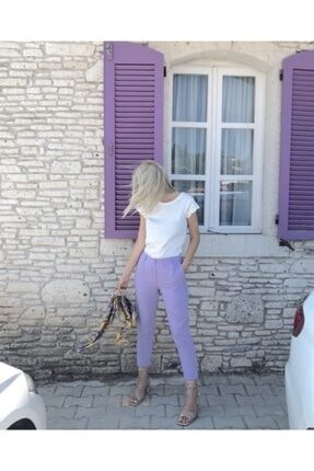 Kadın Lila Rengi Pantolon 5690