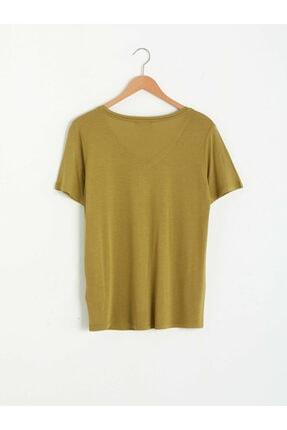 LC Waikiki Kadın Haki Tişört 1