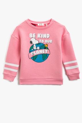 Koton Pembe Kız Çocuk Sweatshirt 0