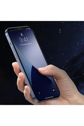 Baseus 0.25mm Iphone 12-12 Pro 6.1 3d Full Tempered Cam Ekran Koruyucu 2adet 4