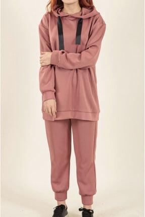moda efsun Kadın Gül Kurusu Eşofman Takımı 2