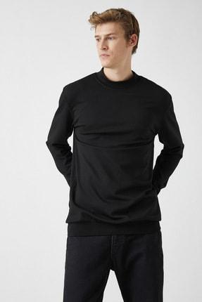 Koton Erkek Siyah Sweatshirt 1KAM74082OK 0