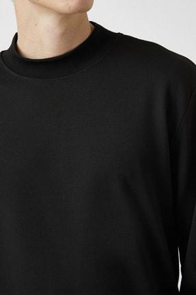 Koton Erkek Siyah Sweatshirt 1KAM74082OK 4