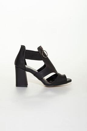 derithy Kadın Siyah Klasik Topuklu Ayakkabı 1