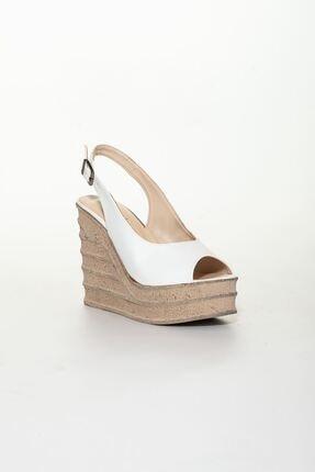 derithy Kadın Beyaz Dolgu Topuklu Ayakkabı 2