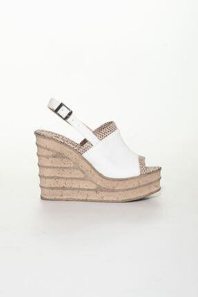 derithy Kadın Beyaz Dolgu Topuklu Ayakkabı 1