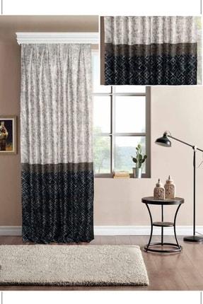 Brillant Mavi Pileli  Panel Fon Perde 70x270 cm 0