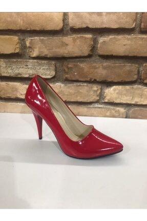 SERRACE Kadın Kırmızı Sivri Burun Sivri Topuk Stiletto Ayakkabı. 0